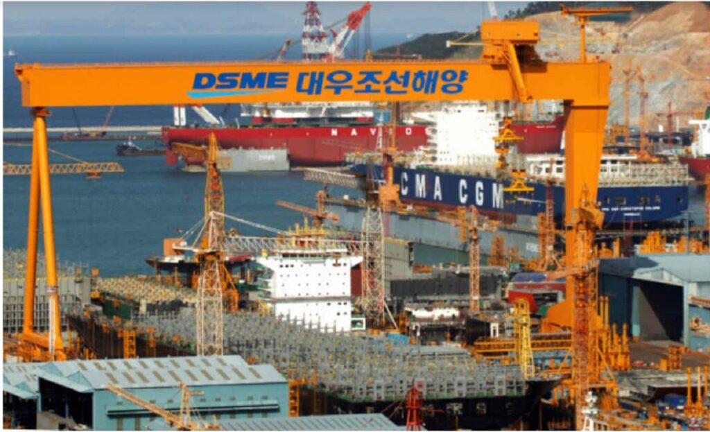 Top 10 Shipbuilding Companies in the world-daewoo shipbuilding and marine engineering-Korea-dailylogistic.com