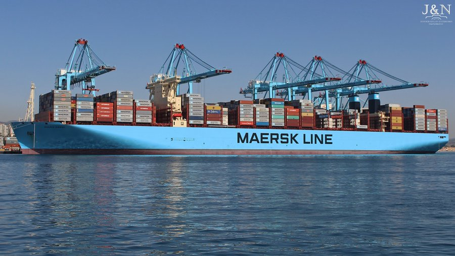 Madrid Maersk is the 2nd container ship to surpass the 20,000 TEU capacity following the MOL Triumph. She is sailing under the AP Moller Maersk vessel fleet and registered in Denmark. Ship constructions staretd in 2015 by the Daewoo Shipbuilding & Marine Engineering in South Korea and lauched in 2017.  Madrid Maersk has acarrying capacity of 19,630 TEU even its designed capacity is  20,568 TEU. Vessel belongs to the Triple E class. Her 1st port of call on the merdain voyage was Tianjin, China. vessel dimension LOA: 399 m, Breadth: 58.6 m, Depth: 33.2m. Madrid Maersk has a gross tonnage of 214,286 MT and her DWT is 206,000. Dailylogistic.com, daily logistic, daily logistics, daily logistics